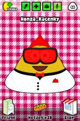 Picture of chubby Pou who does not care whether he is slim or not.