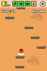 Picture of Sky Jump minigame.