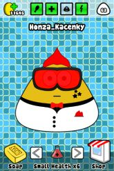 Picture of Pou in bathroom.